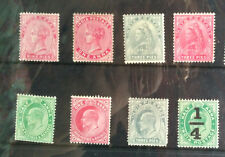 INDIA QV KEVII SELECTION 8 DIFF  SG CAT VAL  £12 MNH