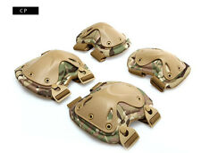 Tactical Airsoft Sports Military X Shape Knee & Elbow Protective Pads Set Cp
