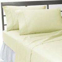 1000TC Egyptian Cotton Duvet Set/Sheet Set/Bed Skirt UK King Ivory Solid
