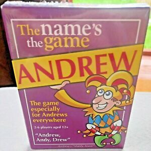 THE NAME'S THE GAME ANDREW - ANDREW'S CARD GAME PAUL LAMOND POCKET SIZE NEW