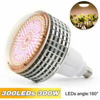 E27 300W Warm Full Spectrum LED Grow Light for Indoor Hydroponic Plants Veg Lamp