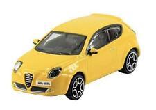 New Burago 1/43 Diecast Model Car - Alfa Romeo Mito in Yellow Street Fire Range