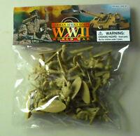 1:32 WWII German Afrika Africa Korps Plastic Toy Soldier Figures 24 In Bag