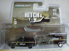 2014 Ford Intercoptor + Cargo Trailer, Greenlight 1:64 Lim. Edition, 32030/C