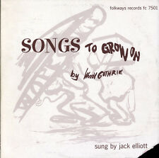 Jack Elliott, Rambli - Woody Guthrie's Songs to Grow on [New CD]