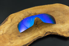 Sky Blue Ice Violet Polarized Mirror Replacement Shield Lens for Oakley Oil Rig