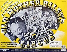 OLD MOTHER RILEY'S CIRCUS 1941 Arthur Lucan Kitty McShane TRADE ADVERT