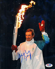 WAYNE GRETZKY SIGNED AUTO'D 8X10 PHOTO PSA/DNA AB08798 NHL KINGS OILERS RANGERS