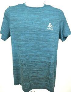 ODLO Cycling Pro T Crew Short-Sleeve Shirt- Men's Large  Green    b376
