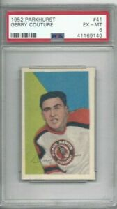 1952 Parkhurst hockey card #41 Gerry Couture, Chicago Blackhawks graded PSA 6