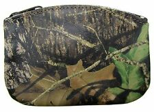 New Leather Camouflage Zippered Coin Pouch Change Holder USA Made