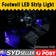 30cm 2pcs Car LED Footwell Decor Lighting Kit Under Dash Strip Interior Light OZ