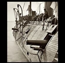 1862 Civil War Ironclad USS Galena PHOTO,UNION NAVY SHIP, James River Virginia