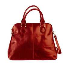 Bolla Bags Womens Alessa Leather Handbag RED Grab handles Tuscany
