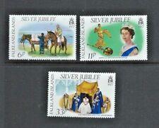 FALKLAND ISLANDS  1977  - ELIZABETH II - SILVER JUBILEE -  Set of 3 - Mint MNH