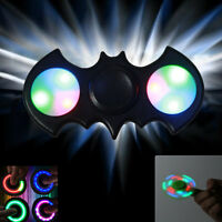 Bat Man Colors LED Wings Finger Hand Spinner Light Tri-Fidget ADHD Autism Focus