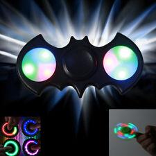 BATMAN BAT LED Fidget Spinner Toy BLK EDC Hand Finger Spinner EEF