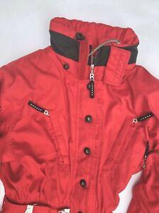 Vintage Bogner Goan Thylmann Red One Piece Ski Suit Size 10