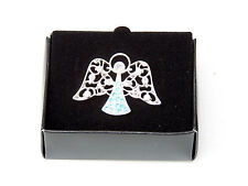 BEAUTIFUL AVON HEAVENLY ANGEL MARCH BIRTHSTONE TAC LAPEL PIN BIRTHDAY GIFT