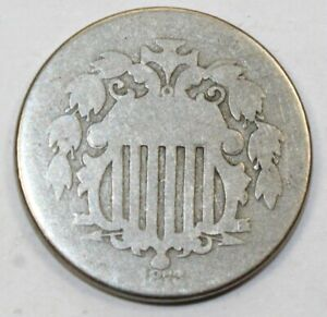1872 United States Shield Nickel - AG About Good Condition