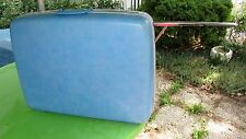 Vtg Baby Blue Samsonite Handle Wheels Silhouette Hard Side Luggage Suitcase