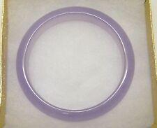 "Light Lavender Jadeite Jade 7/16""W 7"" Bangle Bracelet 159CTS/32Grams NEW!!"