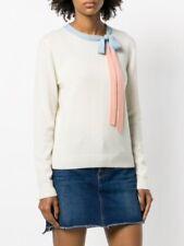Chinti Parker Ivory Bow Detail Jumper Cashmere Blend Sweater Size Medium