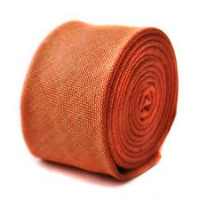 Thomas Frederick slim pour homme orange vif plaine lin tie ft1641 6.5 cm