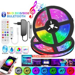 Bluetooth Music RGB LED Strip Light 5050 Flexible Ribbon 2835 LED Light 20M-5M