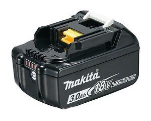 Makita BL1830B Akku 18V 3,0 Ah Li-Ion mit LED Ladestandsanzeige Original BL1830