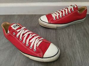 1980's Converse All Star Red Low Chuck Taylor Men's Sz 12 * Made in USA * jack
