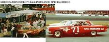 CD_1204  #71 Gordon Johncock K&K 1965 Dodge   1:64 Scale Decals  ~OVERSTOCK~