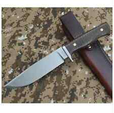 Fixed Blade Steel Hunting Skinning Knife Camping Quality Country Bush Western