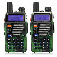 2x BaoFeng UV-5R Plus Qualette Camouflage Series VHF/UHF Dual Band Two-way Radio
