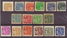 Czechoslovakia, Newspaper Stamps, Pigeon & Delivery Boy MH, Used, 1937, 1945 OLD