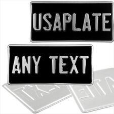 12x6 American Nero E Argento importa testo Novità pressato targhe in metallo