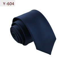 Mens Striped Skinny Necktie Formal Casual Party Wedding Polyester Tie NEW