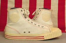 Vintage 1950s Ball Band Jets White Canvas Basketball Sneakers Hi-Top Shoes 8.5
