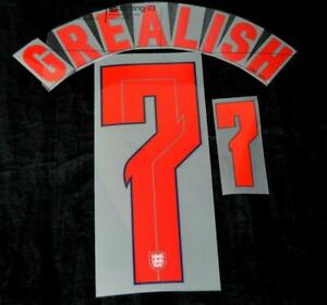 Official England Grealish 7 2020/2021 Football Name/Number Set Player Size Home