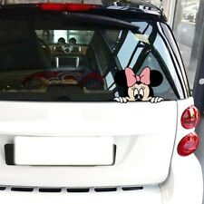 Peeking Disney Minnie Mouse COLOR Car or Laptop Vinyl Decal - FREE SHIPPING!