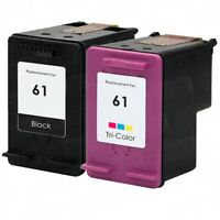Replacement HP 61 Ink Cartridge Combo Pack 2: 1x Black + 1 Tri Color