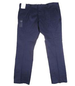 Calvin Klein Mens Slim Fit Dress Pants Size W42 L32 Dark Blue Free Posatge