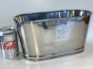 2 Bottle Silver Napoleon Lily Bollinger Wine Champagne Ice Bath Bucket Cooler
