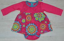 DESIGUAL BABY KLEID VEST DRESS ELENA MIT BODY 67V38A3 2 IN 1 Gr. 80 /12-18 mon
