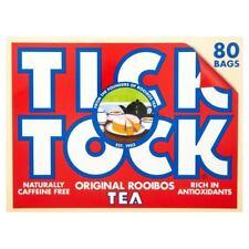 Tick Tock Original Rooibos Tea Bags (80 per pack) (Pack of 6)