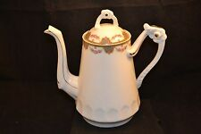 Limoges France Chapouan Chocolate Pot Deco Rose Swags