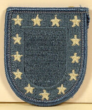 US Army Black Beret Blue Flash with Stars Patch Insignia