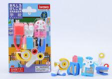 IWAKO Japanese Eraser Blister Set - School Accessories & Supply (Colors Vary)