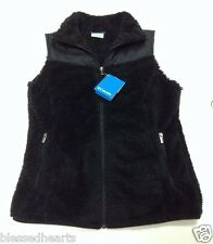 Columbia Vest Black Women's Small Polyester Nylon Fast Beauty Style Winter New