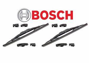 Fits Mercedes W108 W110 W111 Set of 2 Front Windshield Wiper Blades Bosch 40 711